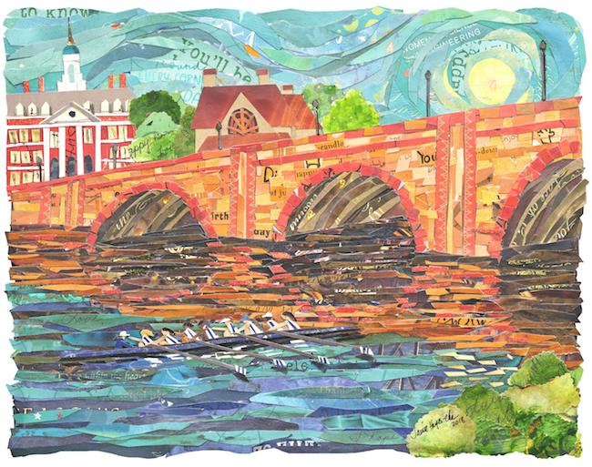 Rowers Anderson Bridge 11x 14
